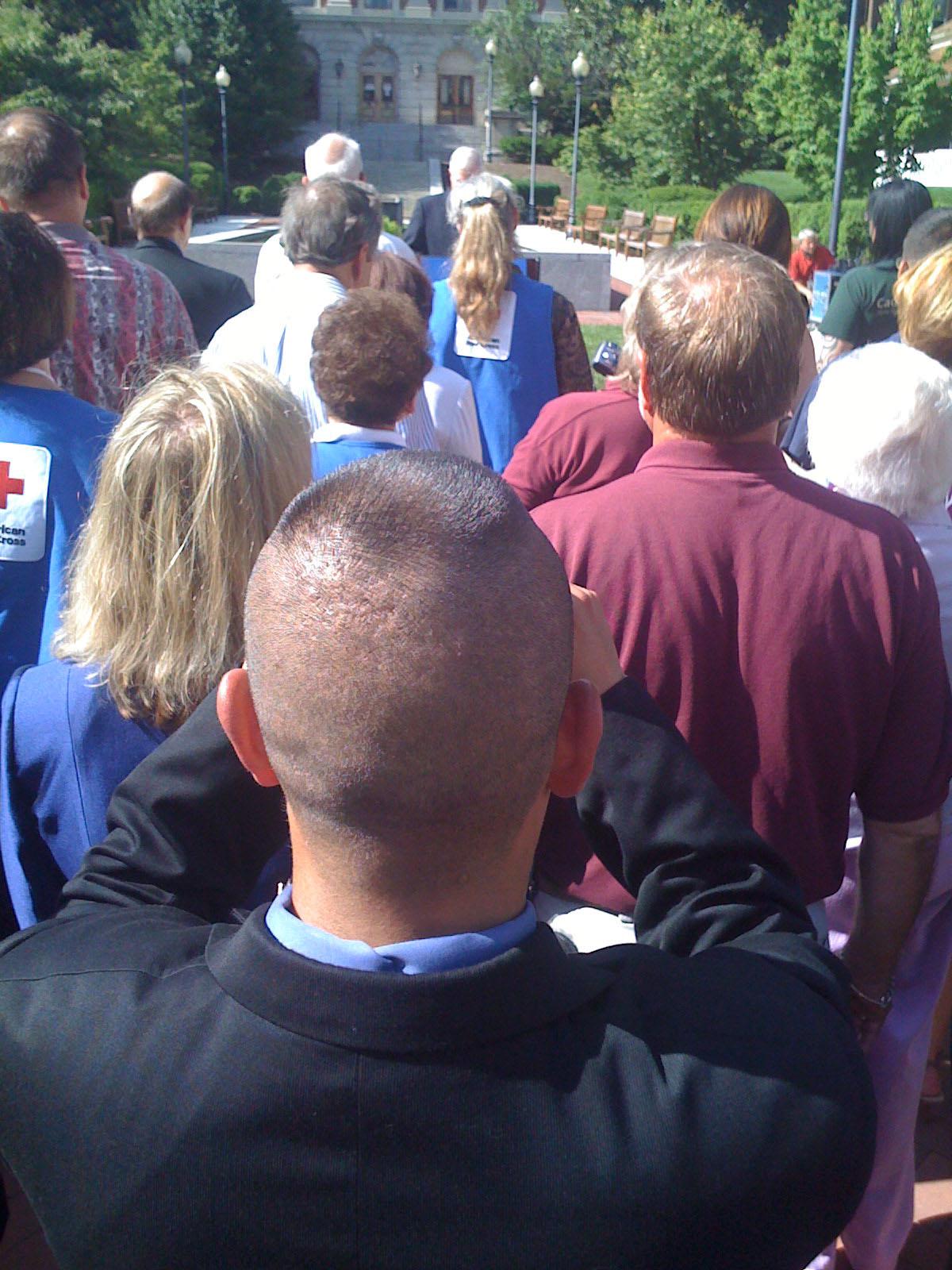 Secretary Robert Gates Addresses The Red Cross At Walter Reed